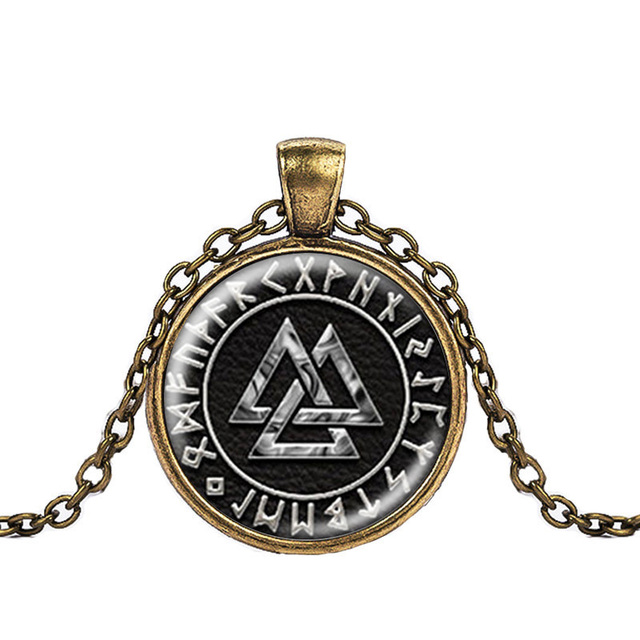 Norway Valknut pagan symbol amulet Pendant Men Jewelry Necklace Viking Scandinavian Odin of Nordic Viking Warrior 5
