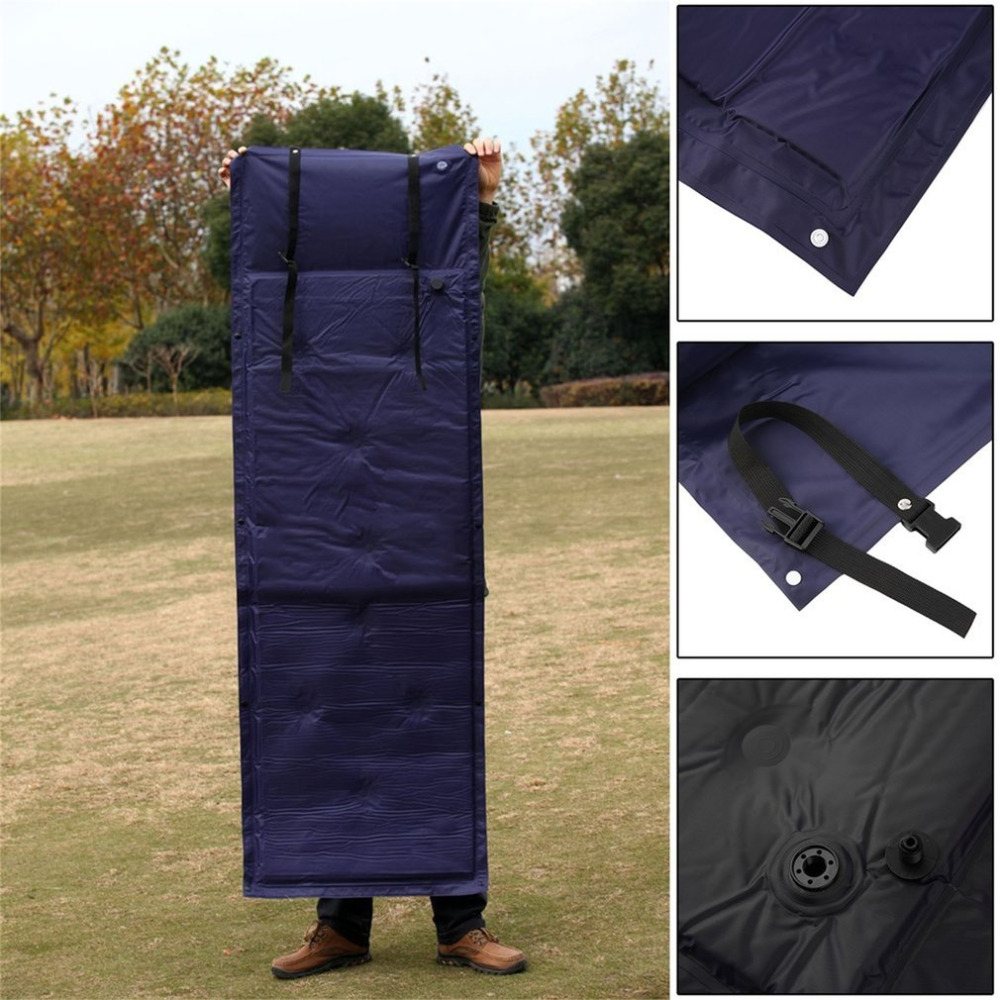 Outdoor Camping Mat High Resistant Sponge Filling Nine Points Travel Air Mattress Self-Inflating Automatic Inflatable Cushion