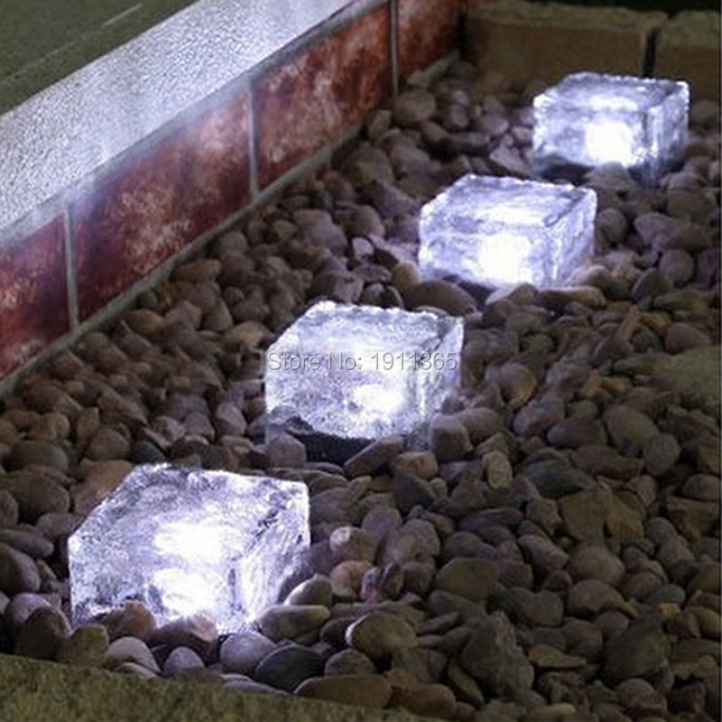 Solar Glass Decorative Luminous Stone Brick For Garden