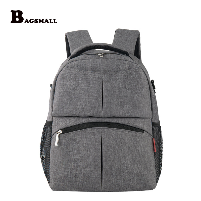 BAGSMALL Multifunctional Travel Backpack For Mother Baby Nappy Bag with Changing Pad Maternity Mummy Diaper Bags Baby Stroller bagsmart women bag baby nappy changing bags diaper bag mother shoulder bag mummy handbag baby stroller bag nappy changing pad