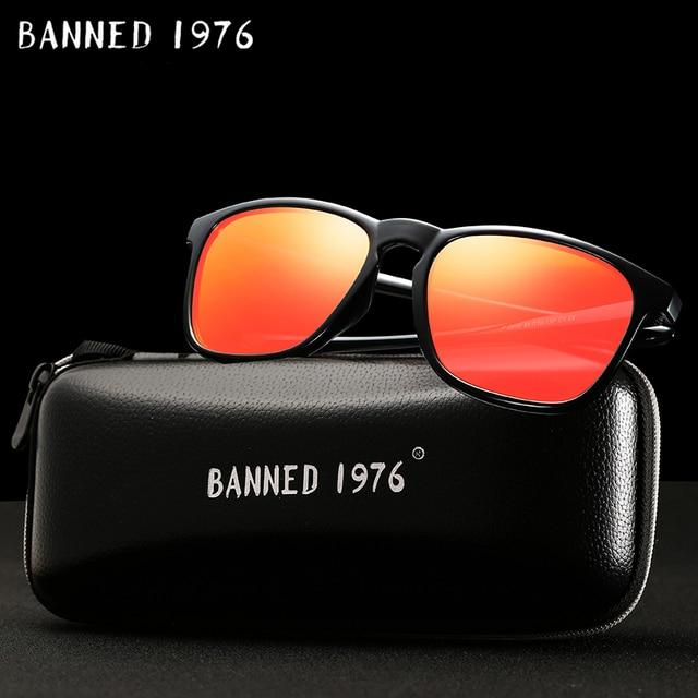 c5efbe5a9b 54mm Unisex de moda cuadrado Vintage polarizado gafas de sol para hombre  Polaroid mujeres remaches de