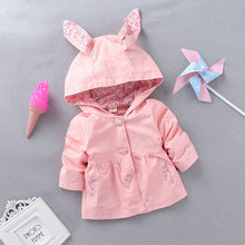 Spring Girls Baby Clothes Brand Floral Rabbit Ears outerwear coats for girls