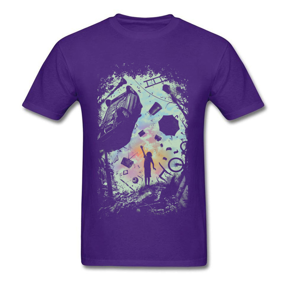 Gravity Play Special Short Sleeve Design T Shirts Cotton Fabric O Neck Mens Tops Shirts Casual Top T-shirts Summer Gravity Play purple