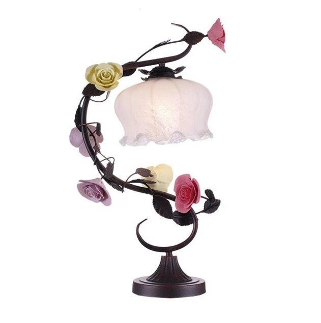 Modern Table Lamp Led Ceramic Flower Desk Lamp Lights Bedside Lights Night Lighting Living Room Dinning Room Bar Wedding Decor