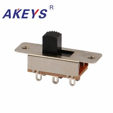 SS-23F19 2P3T Double pole three throw 3 position slide switch 6 solder lug pin DIP type without fixed for car refrigerator