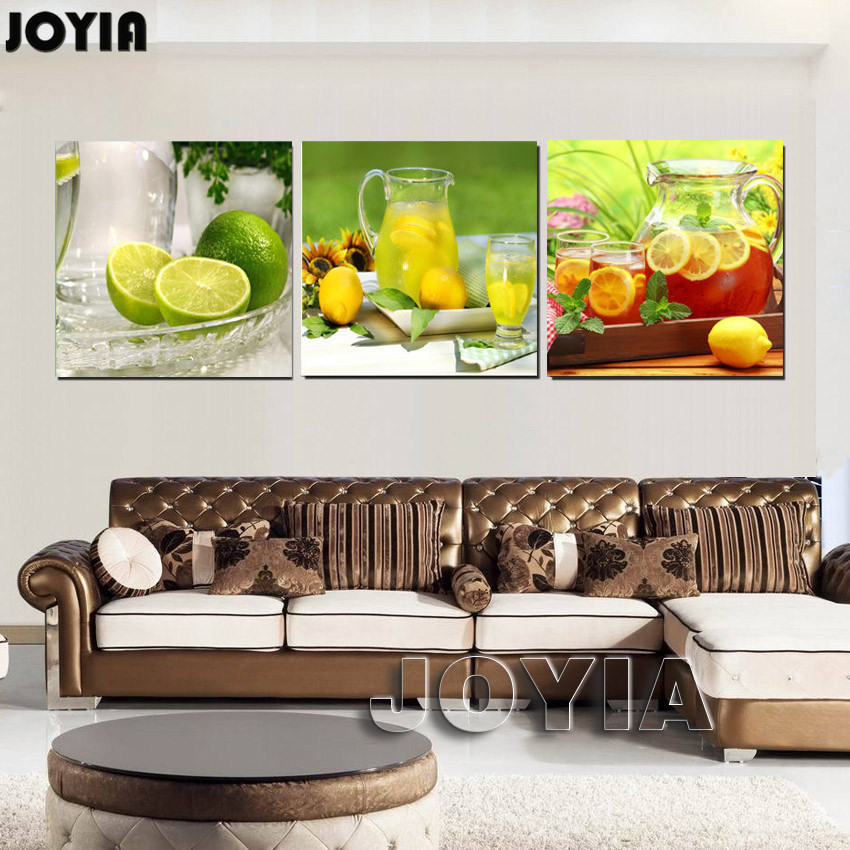 Decoration Pieces For Kitchen: Home Kitchen Decoration Canvas Art Modern Wall Painting