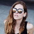 10pcs/Lot Iridia FF0060/S Women Sunglasses Designer Mirrored Metal Brand New Female Glasses Cat Eye Oculos De Sol Retro Vintage