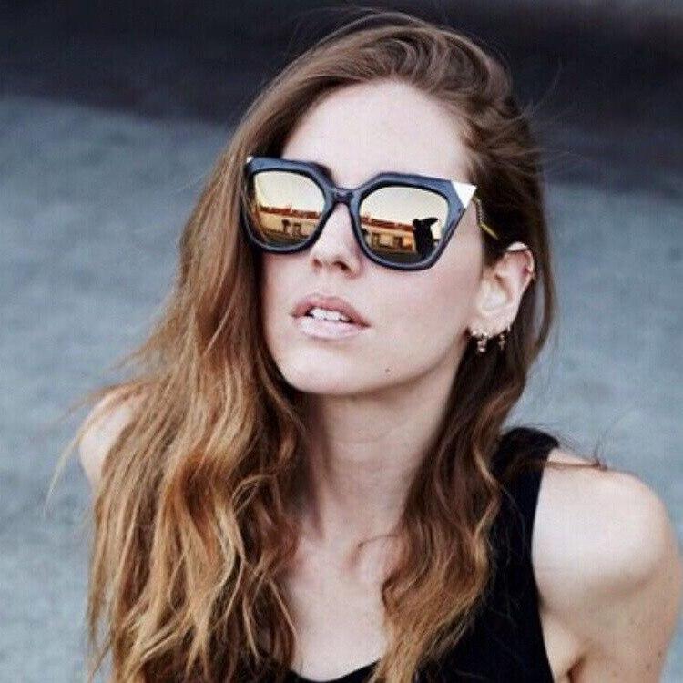 5ab249c51bac2 Iridia FF0060   mulheres óculos De Sol espelhado Metal feminino olho De  gato óculos De Sol Retro