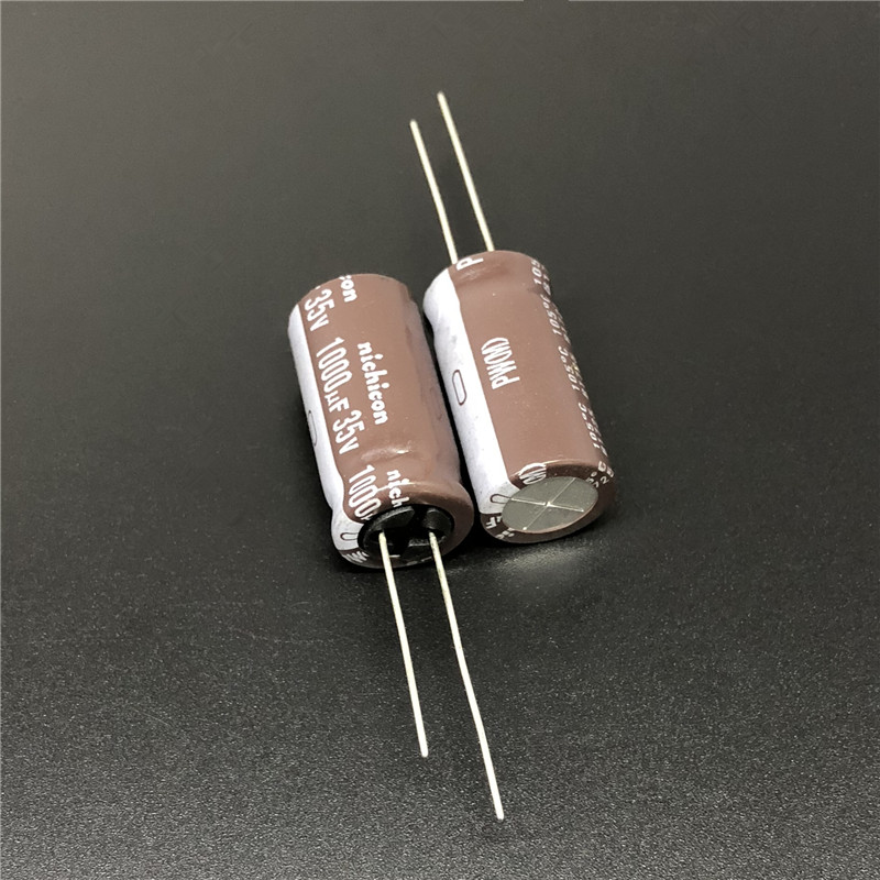 10pcs/100pcs 1000uF 35V NICHICON PW Series 12.5x25mm Low Impedance Long Life 35V1000uF Aluminum Electrolytic Capacitor