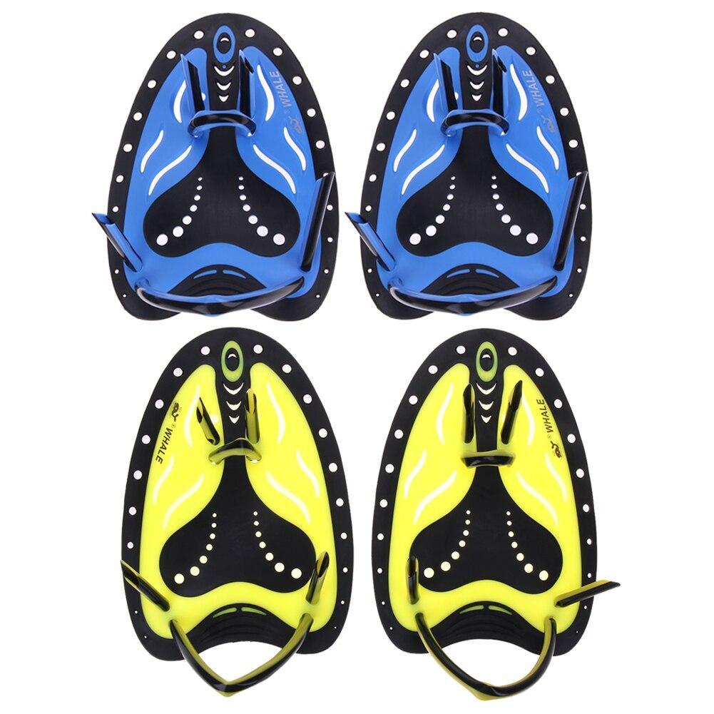 Las mujeres de los hombres de formación paletas de natación de silicona ajustables mano palmeados guantes de natación Padel aletas de buceo guantes para adultos