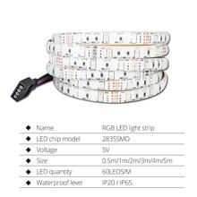 USB LED Strip 2835 RGB Музыкальный контроллер Звуковой сенсор с RF Remote IP20 / IP65 Music