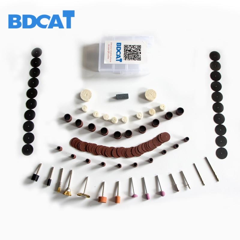 BDCAT 106 Pieces/set Dremel Rotary Power Tools Mini Accessory Sets Fits Dremel Drill Adapter Electric Dremel Tools Accessories