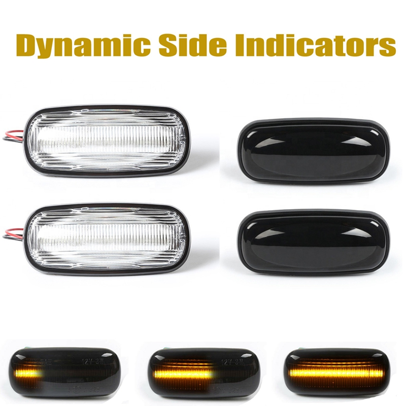 2Pcs Auto Led Dinamica Side Mark Turn Luce di Segnale Del Flash Acqua per Land Rover Discovery <font><b>Defender</b></font> <font><b>Td5</b></font> image