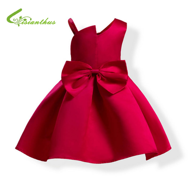 Children's Christmas Dresses For Girls Wedding Party Baby Girl Princess Birthday  Dress Teenager Butterfly-knot Girl Clothing christmas holiday flower girl dress butterfly princess children dresses for party wedding birthday gift