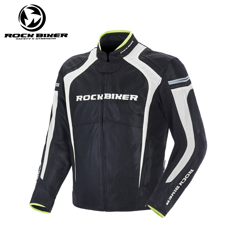 ROCK BIKER Polyester Breathable Mesh Motorcycle Jacket Men Spring Summer Slim Moto Racing Riding jacket with CE protector 4XL