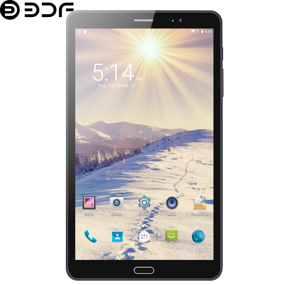 BDF Original New 8 Inch Tablets 3G Phone Call Quad Core Android 6.0 Tablet Pc IPS Screen WiFi Bluetooth 3G Dual SIM Cards