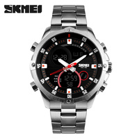 Luxury Brand Skmei Men S Watches Multifunction Army Military Digital Analog Quartz Date LED Stainless Steel