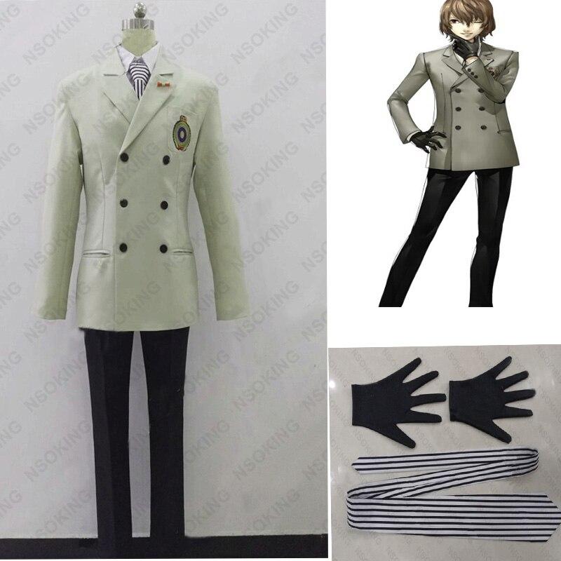 New Persona 5 Goro Akechi Cosplay Crow Costum school uniform custom made