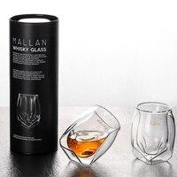 Rellar 2 шт креативное четырехугловое бессвинцовое стекло для подарка виски стекло индивидуальность виски стекло вина
