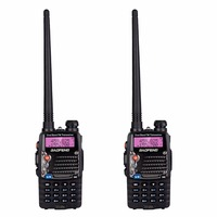 2Pcs BAOFENG Long Range Walkie Talkie UV 5RA with Earphone Uhf Vhf Dual Band CB Radio Station Radio Scanner Police Two Way Radio