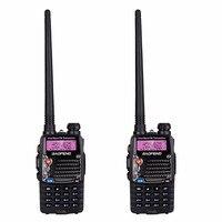 2Pcs BAOFENG Long Range Walkie Talkie with Earphone Uhf Vhf UV 5RA Dual Band CB Radio Station Radio Scanner Police Two Way Radio