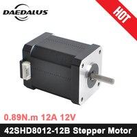 Nema17 Stepper Motor 42SHD8012 12B 42 Motor Nema 17 Motor 0.89N.m 2A Motor 2 Phase CNC XYZ 3d Printer Motor For Engraver Machine