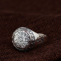 FNJ 925 Silver Lotus Flower Ring New Fashion Original S925 Sterling Thai Silver Rings For Women