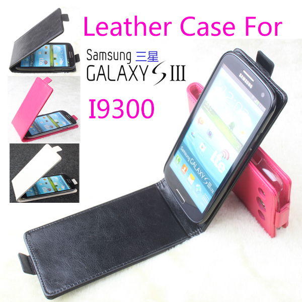 2014 Luxury Flip Genuine Leather Case Samsung Galaxy S3 i9300,Original Mobile Phone Bag,Free Screen Protector/Black - MMZ Union Source store
