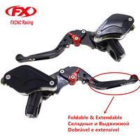 7 8 22MM Fold Extend Motorcycles Master Cylinder Reservoir Hydraulic Brake Clutch Lever For 50CC 300CC