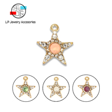 Mocha crystal stars Pendant DIY earrings necklaces Accessories vintage Jewelry Making Handmade Charms findings 10pcs/lot