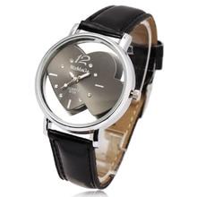 Hot Selling Cute Heart Shaped Round Face Women Girls Quartz Wrist Watches Pink White Blue Hollow Crystal Designer Skeleton Watch