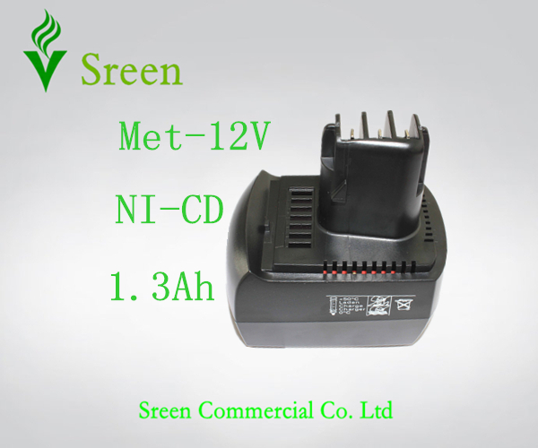 New 12V Ni-CD Rechargeable Battery 1300mAh Replacement Power Tool Battery for METABO BSZ12 BS12SP Free Shipping