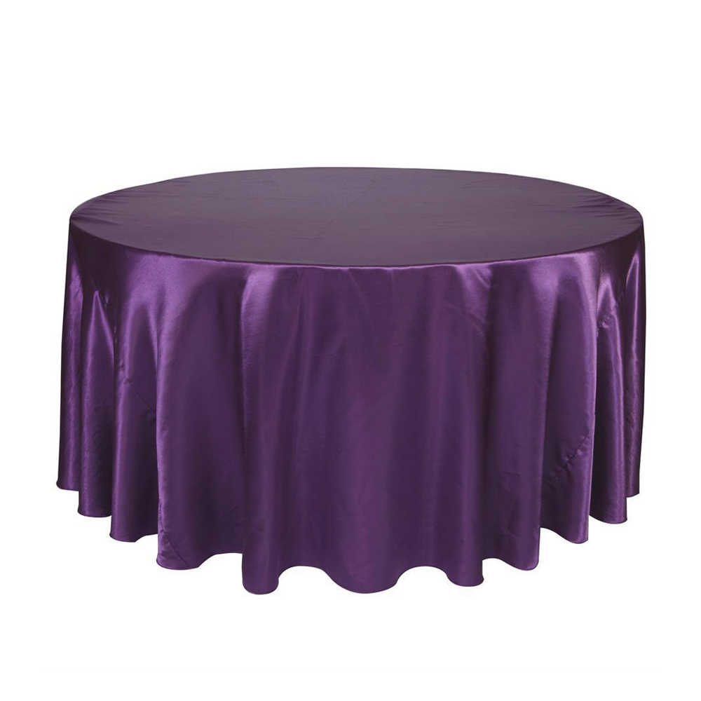 Round Tablecloth Luxury Polyester Satin Table Cover Oilproof Wedding Party Restaurant Banquet Home Decoration20
