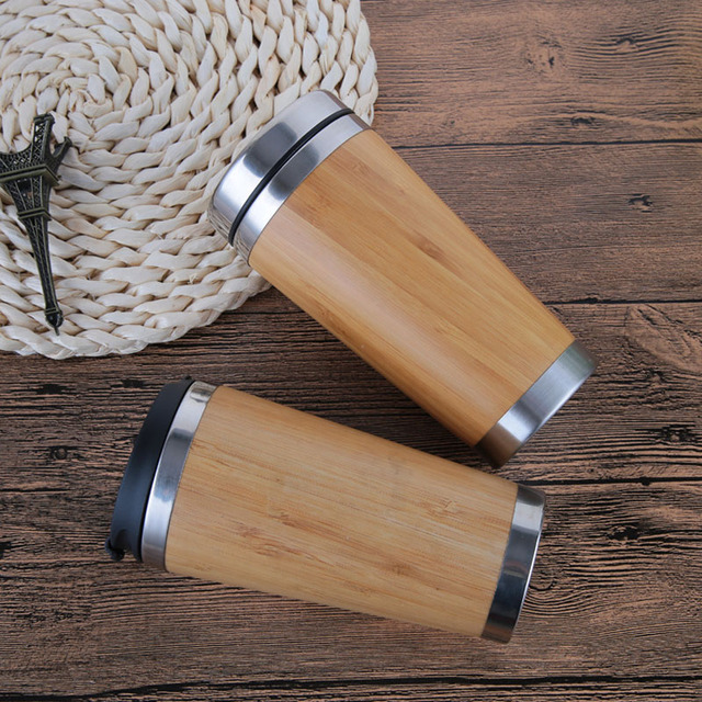 Cute Portable Eco-Friendly Bamboo Thermal Mug