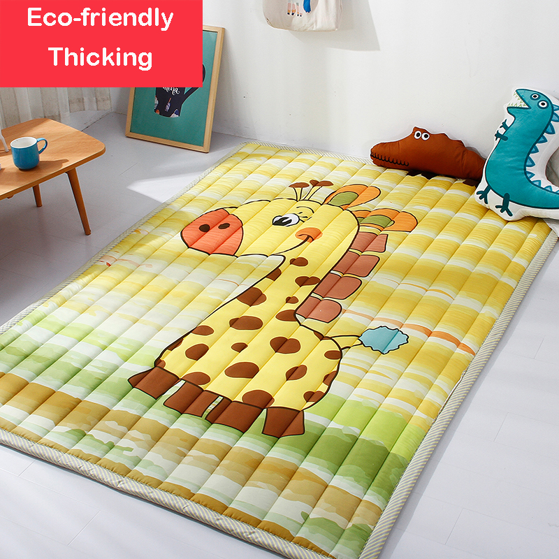 Infant Shining Mats Folding Baby Play Mats 140X195CM Cotton Carpet Children Game Blanket Non-slip Machine Washable Rugs woven vinyl non slip insulation placemat washable table mats