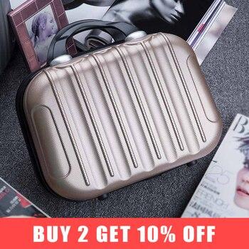 aebefcf3cdbb Hardside чемодан путешествия одежда для выходных Красота сумка для косметики  сумка для хранения Box Чемодан Дело