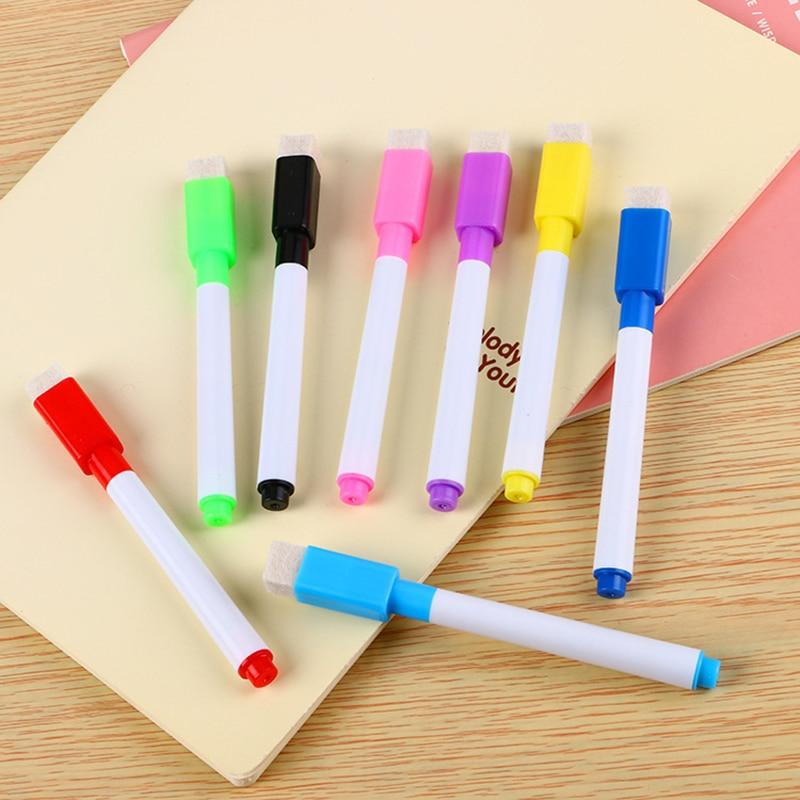 8 Uds marcadores para Pizarra de color seco Kawaii, pizarra blanca, lindos marcadores de dibujo borrables para pizarra blanca