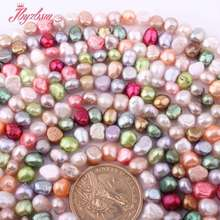 5-7mm Natural Freshwater Pearl Baroque Gem Stone Beads Strand 14″ For Bracelets Necklace Jewelry Making,Wholesale Free Shipping