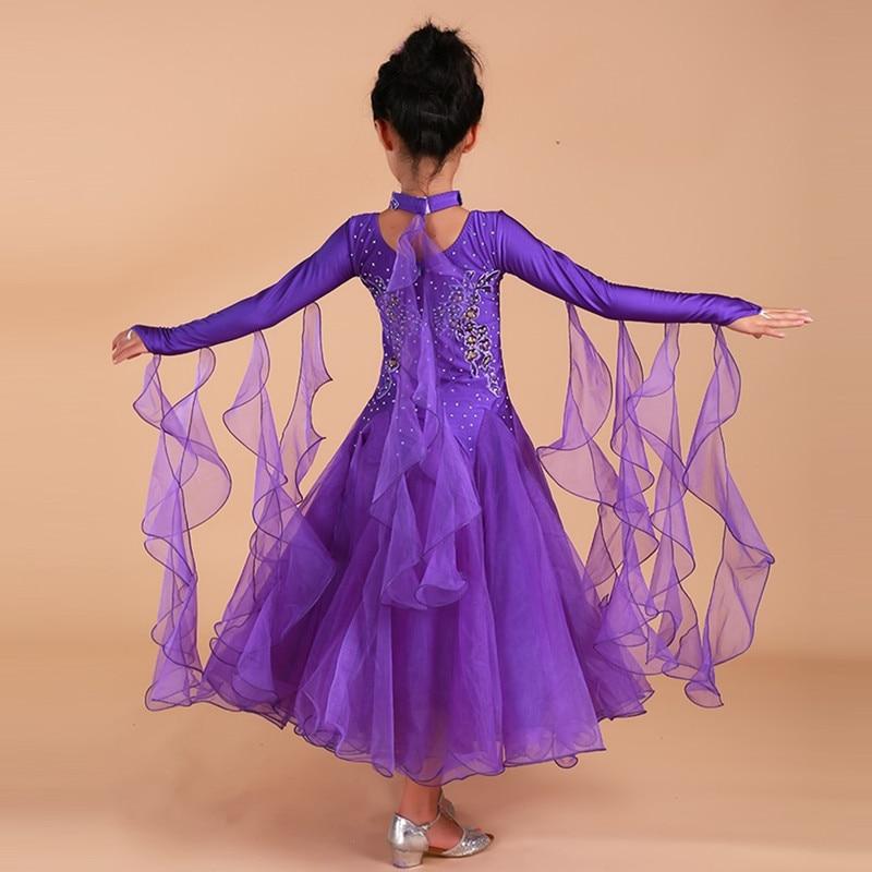 6 colors  pink ballroom dancing dresses for kids ballroom dresses ballroom waltz dresses girls standard dance dress dancewear