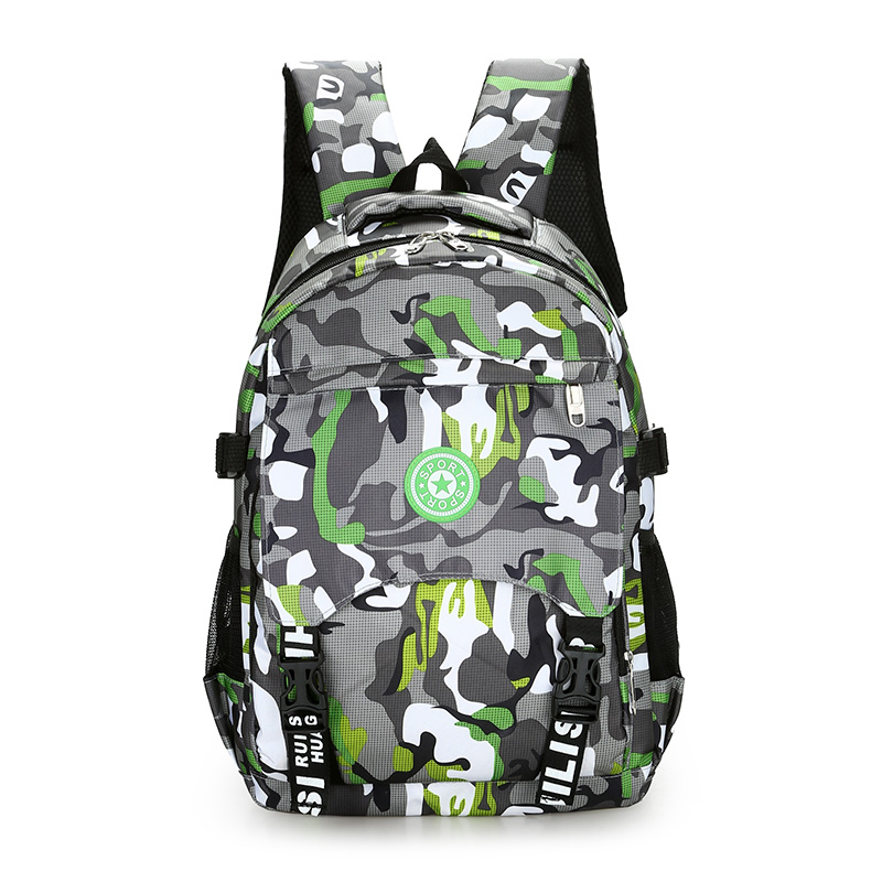 The Large Capacity Army Camouflage Backpack Waterproof Nylon Lightweight Men Travel Bag Tough Guy School Bag For Boy Leisure Bag