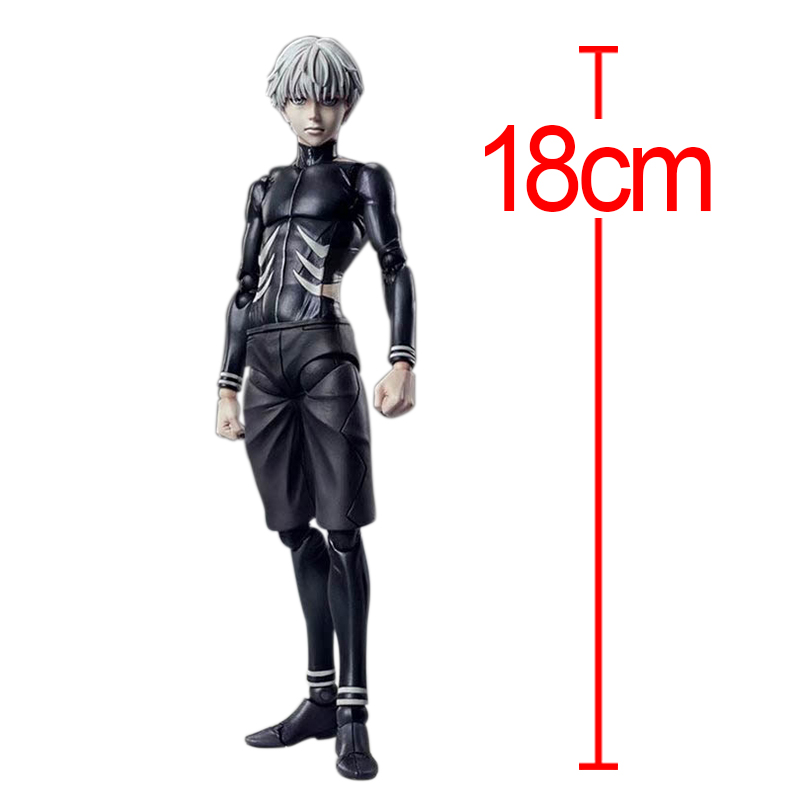 C&F Tokyo Ghoul Anime Action Figure Toys Kaneki Ken 18 CM Cosplay PVC Model Collectible Figures Toys For Display anime tokyo ghoul mask cosplay figure kaneki ken action figure brinquedos party adjustable zipper prop juguetes hot kids toys