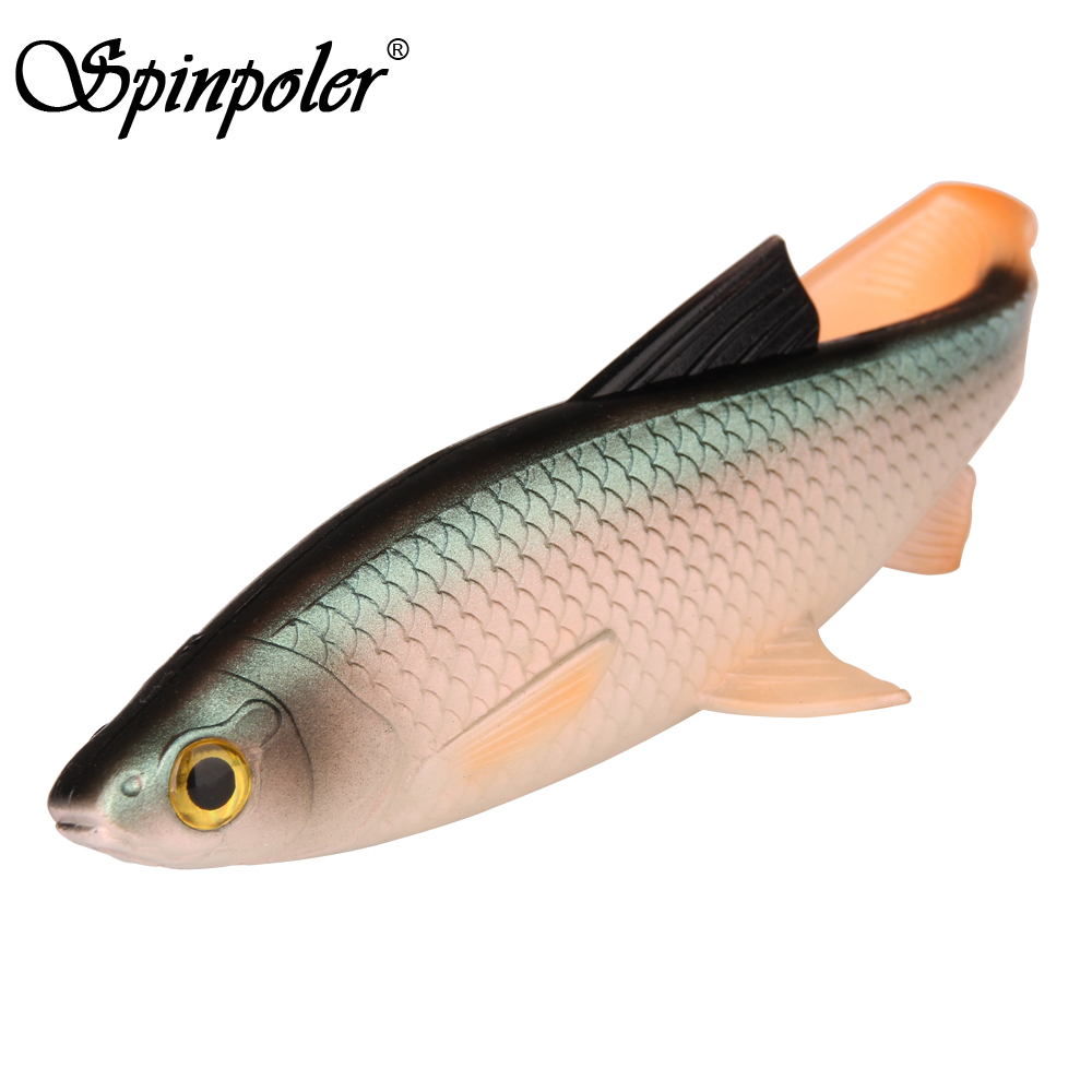 Spinpoler 3D Scanned Soft Bait Fishing Lure 5g 10g 20g 40g Swimbait Silicone Bait T-style Paddle Tail Fishing Tackle 1pc/lot