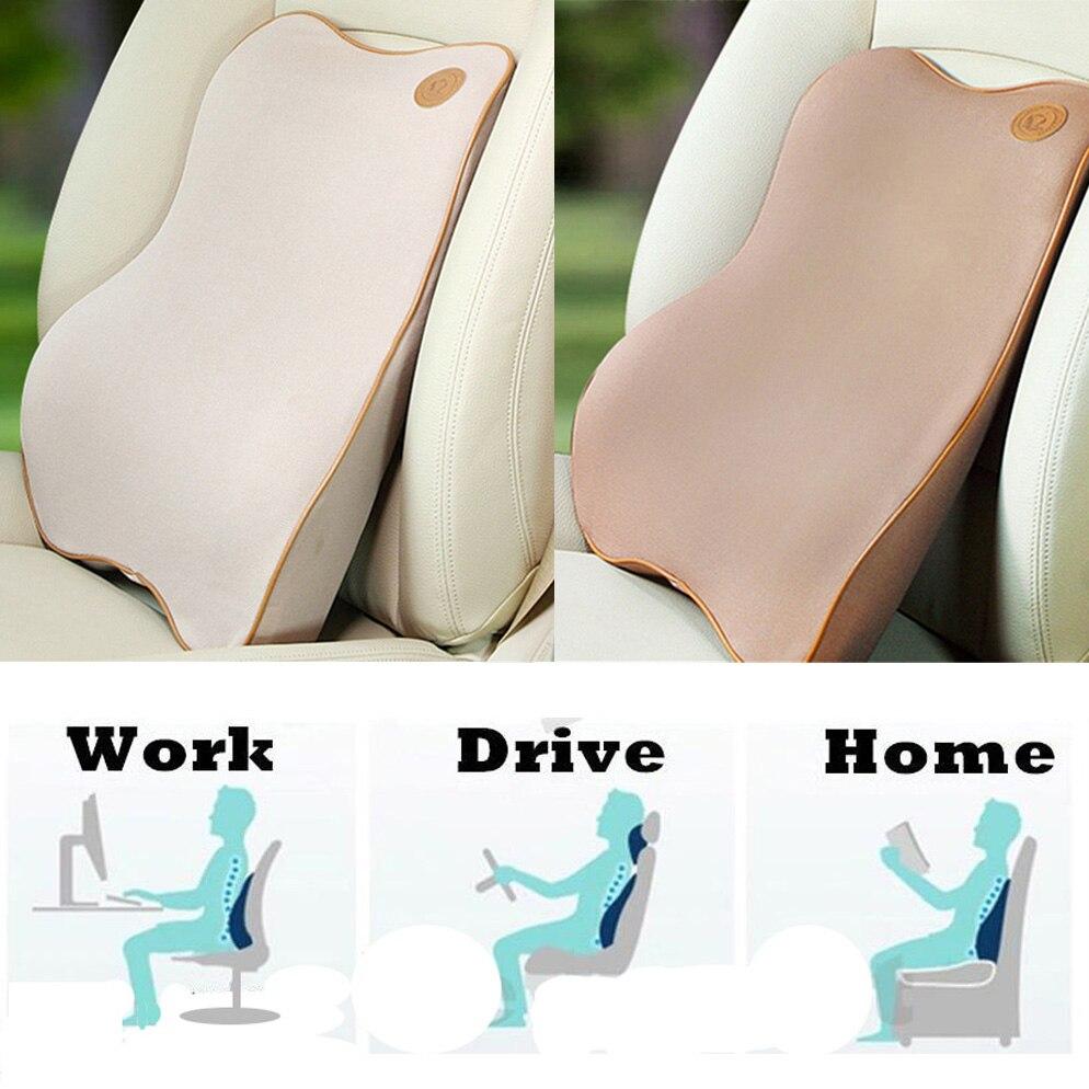 ₪Asiento de coche Almohadas lumbar Protecciones para espalda