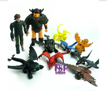 10pcs/lot How to Train Your Dragon 2 Movie Action Figures Classic NightFury Toothless Dragon toys For Children
