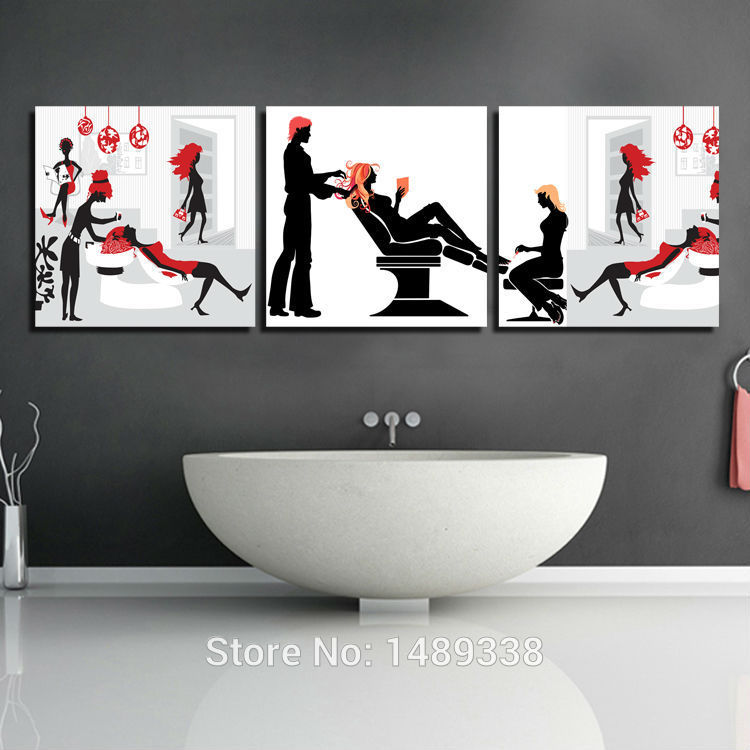 3 Panels Modern Wall Painting Barber Shop Picture Home Decorative Art Picture Paint On Canvas Prints