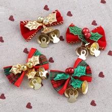 8 шт. бант для рождественской ёлки, рождественские украшения, колокольчик, 4 типа, Микс, домашний сад, банты, рождественские/Свадебные украшен...