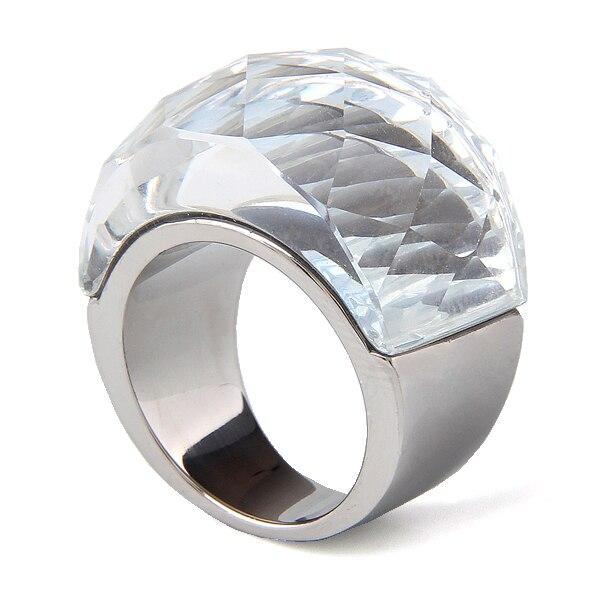 Prix pour En gros En Acier Inoxydable Bijoux De Mariage Fournitures Grand Zircon Anneaux pour les femmes