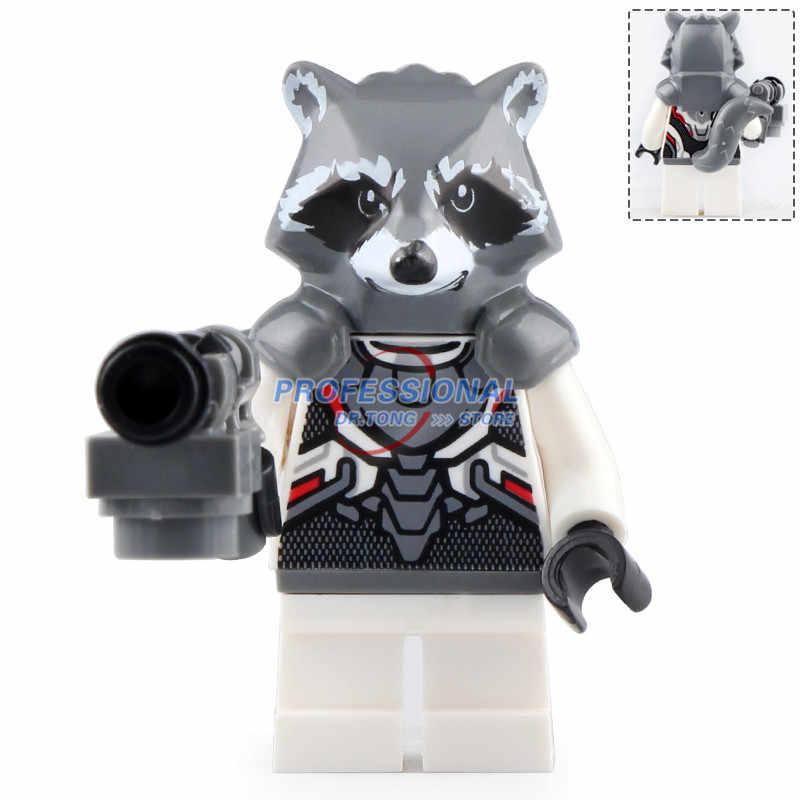 Avengers 4 Endgame Spiderman Rocket Raccoon Defensive Ultimate Model Set Compatible Building Blocks Toys D157
