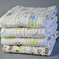Banho do bebê toalha de bambu 3 camadas bebê swaddle cobertor do bebê 120*120 cm