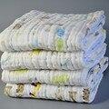 Toalla de baño del bebé 3 capas de bambú bebé swaddle bebé manta 120*120 cm
